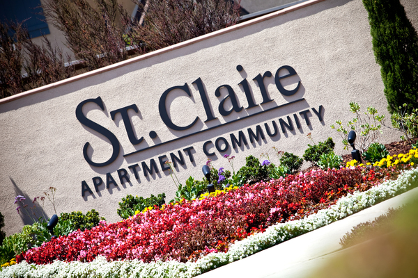 signage at St. Claire Apartment Homes