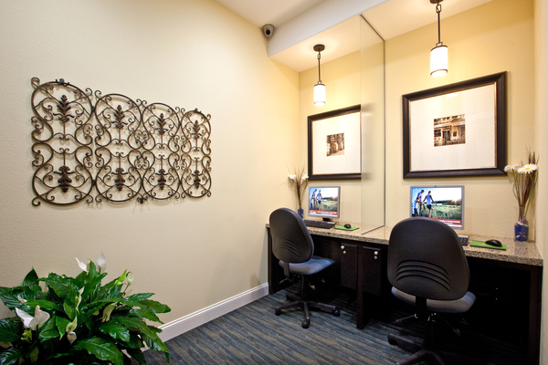 business center at St. Claire Apartment Homes