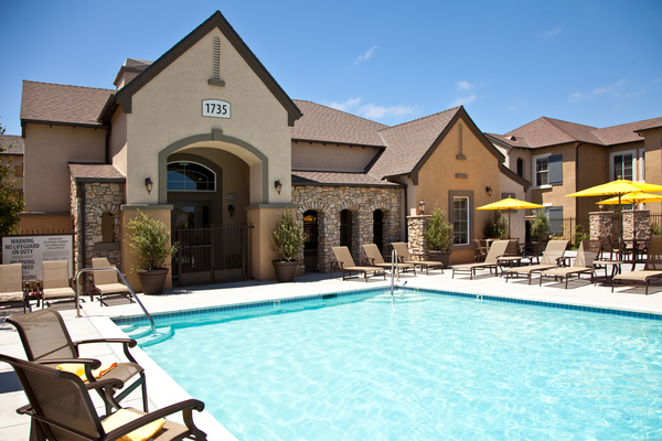 pool at St. Claire Apartment Homes