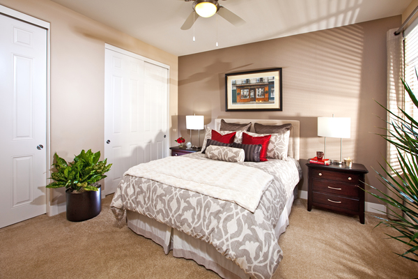 bedroom at St. Claire Apartment Homes