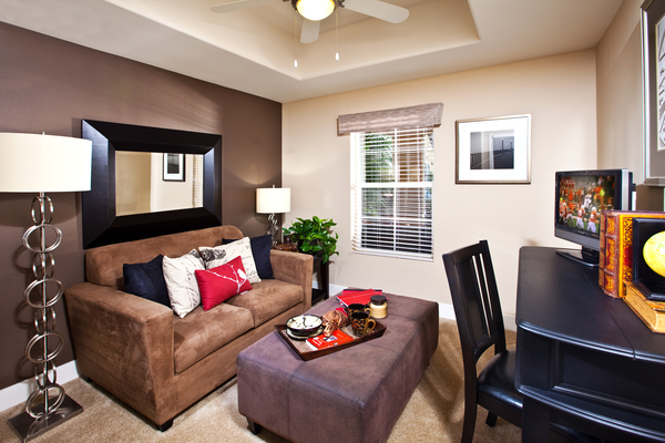 living room at St. Claire Apartment Homes