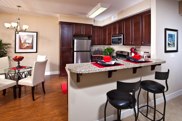 kitchen at St. Claire Apartment Homes