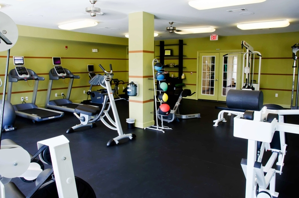 fitness room at Residences at Gramercy Apartments