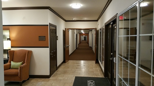 hallway at Residences at Gramercy Apartments