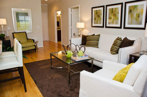 living room Residences at Gramercy Apartments