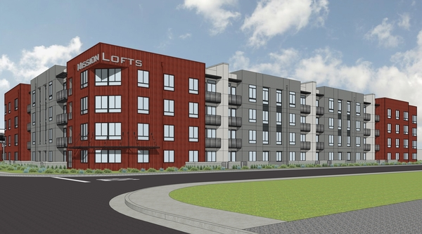 rendering at Mission Lofts Apartments