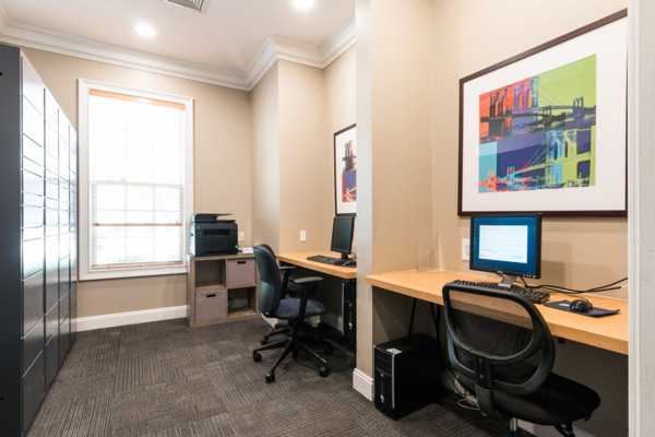 business center at Assembly Dulles Apartments