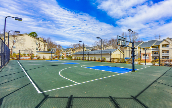 sport court at The Whitley Apartments