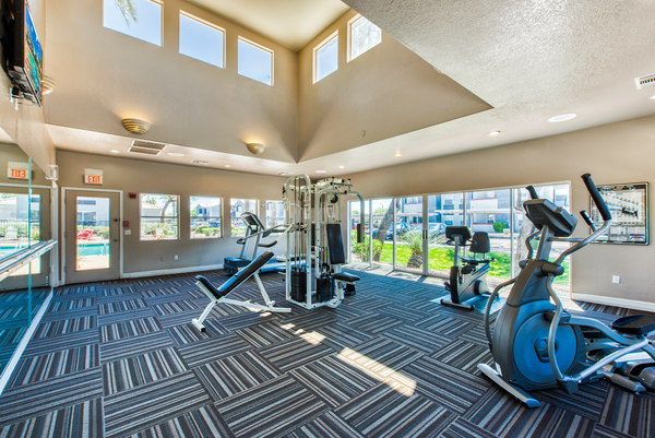 fitness center at Cantamar Apartments