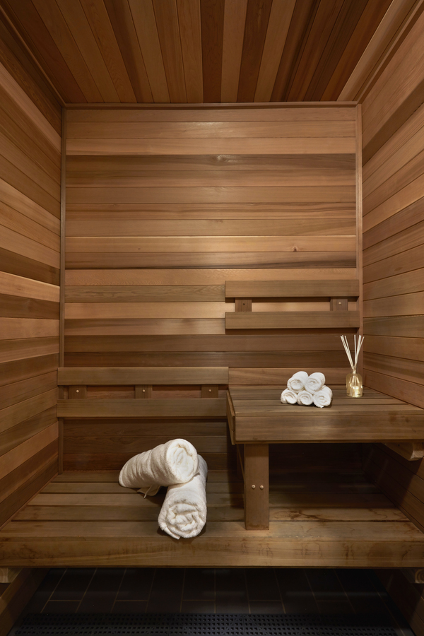 sauna at Jasper Apartments