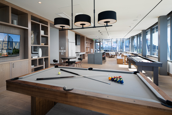 game room at Helm Apartments