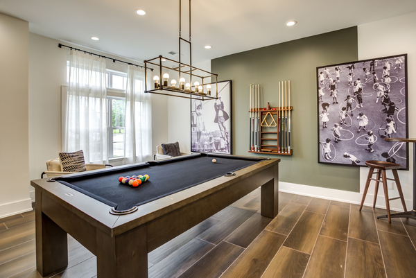 game room at Ascend St. Charles Apartments