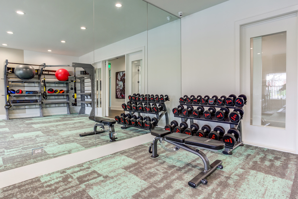 fitness center at Ascend St. Charles Apartments