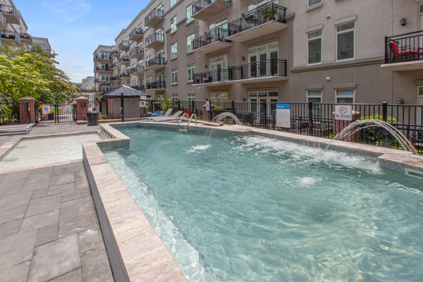 pool at 1000 Jefferson Street Apartments