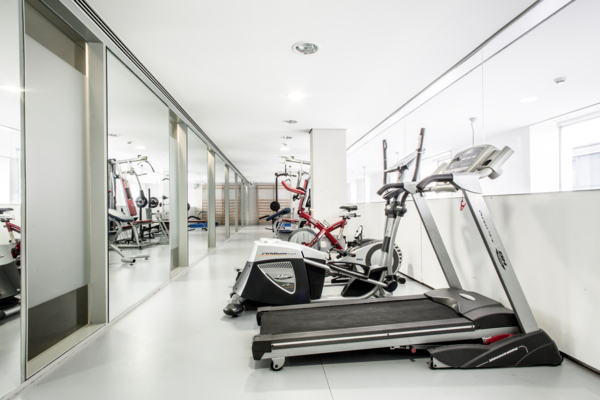 fitness center at Roberto de Nobili Residence Hall