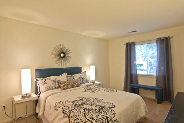 bedroom at Pines of York Apartments
