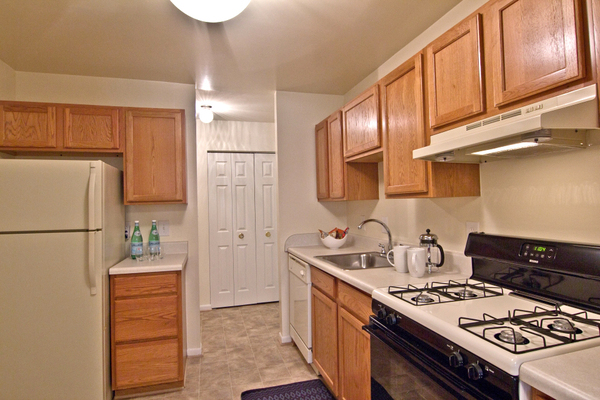 kitchen at Pines of York Apartments
