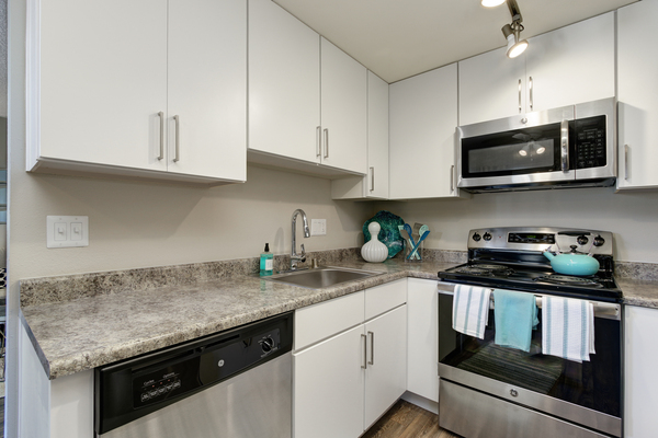 kitchen at Point Bonita Apartments