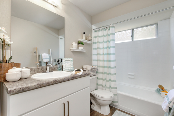 bathroom at Point Bonita Apartments