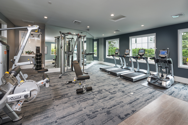 fitness center at 81 Fifty at West Hills Apartment Homes