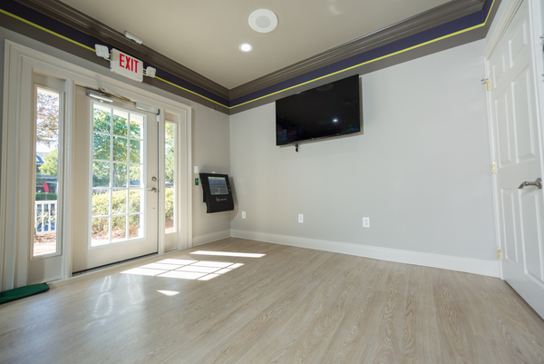 yoga studio at 1000 Spalding Apartments