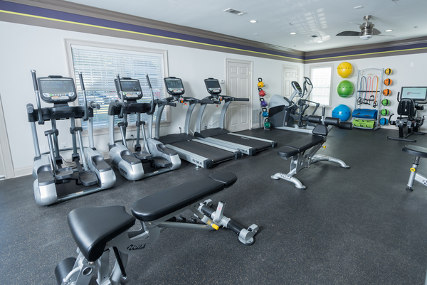 fitness center at 1000 Spalding Apartments