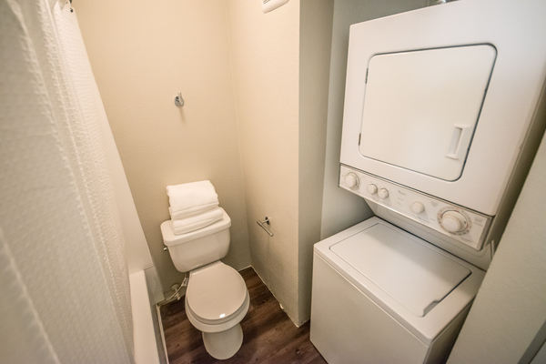 bathroom at 81 Fifty at West Hills Apartment Homes