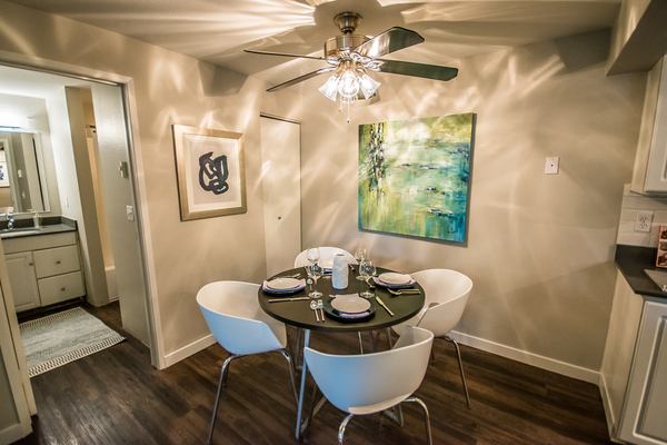 dining room at 81 Fifty at West Hills Apartment Homes