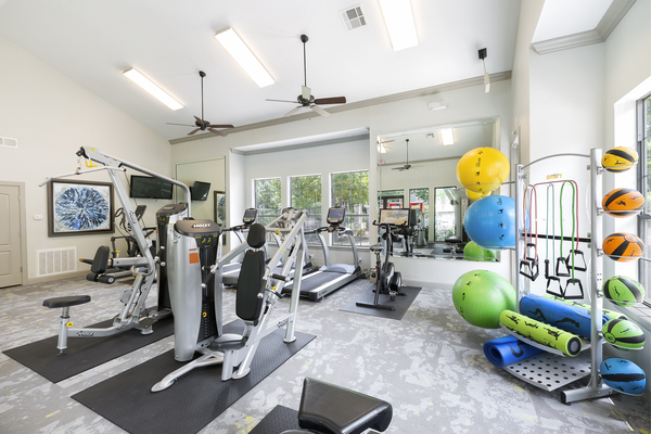 fitness center at Ravina Apartment Homes