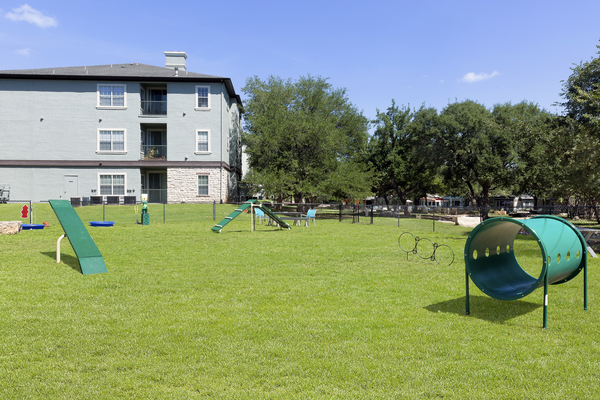 dog park at Ravina Apartment Homes