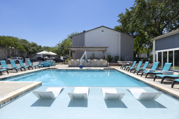 pool at South Lamar Village Apartments