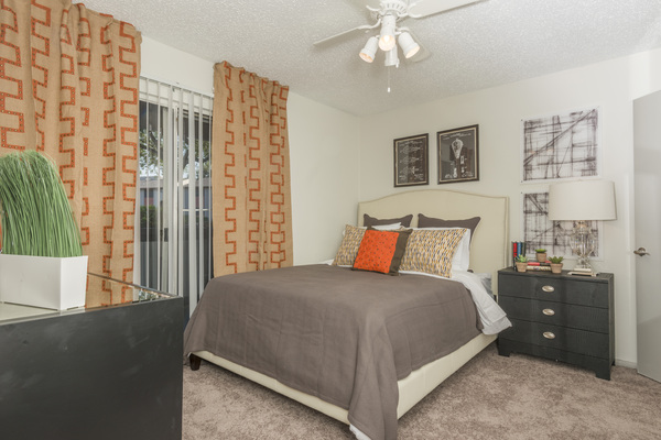 bedroom at South Lamar Village Apartments