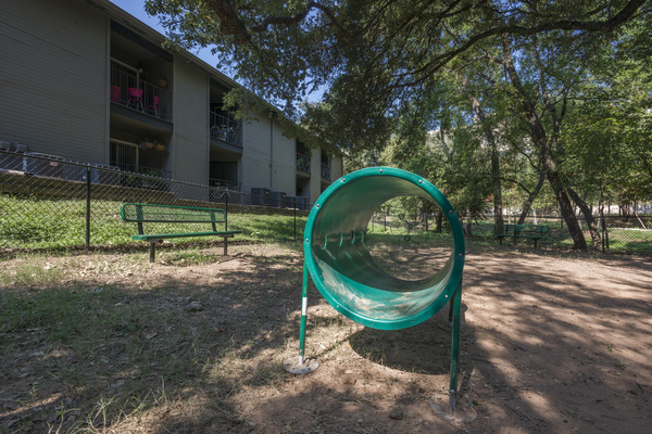 dog park at South Lamar Village Apartments