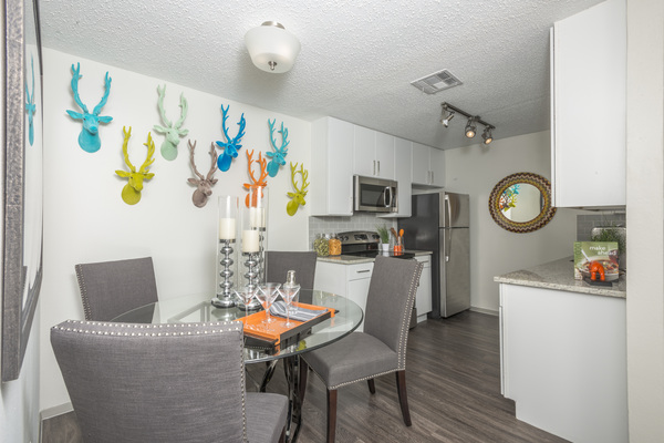 dining room at South Lamar Village Apartments