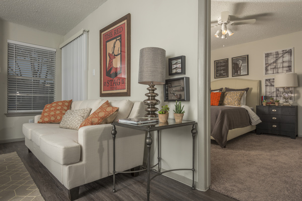 living room at South Lamar Village Apartments