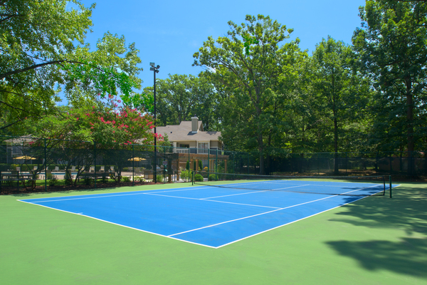 tennis court at Tech Center Square Apartments
