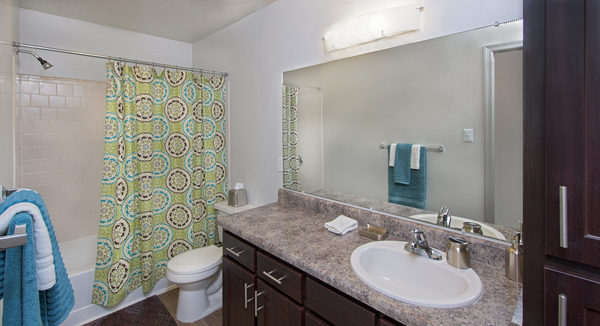 bathroom at Tech Center Square Apartments