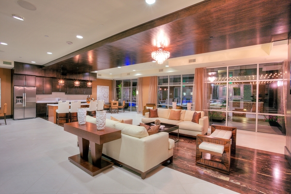 clubhouse at Alara Uptown Luxury Apartments