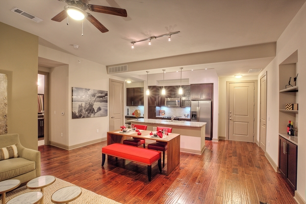 dining room at Alara Uptown Luxury Apartments