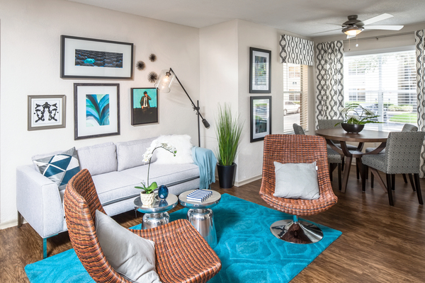 living room at The Terraces at Lake Mary Apartments