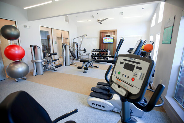 fitness center at Aston at Cinco Ranch