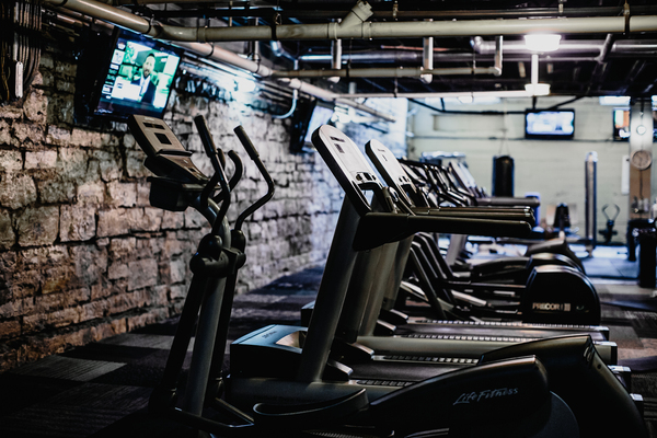 fitness center at The Cannery Apartments