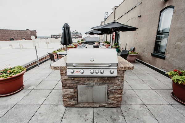 grill area at The Cannery Apartments
