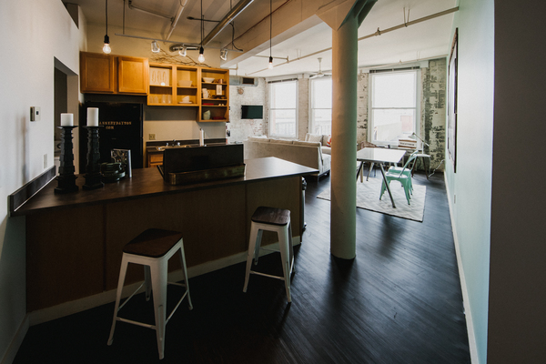 kitchen at The Cannery Apartments