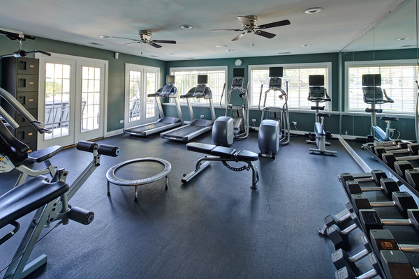 fitness center at Windbrooke Crossing Apartments
