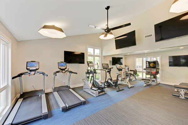 fitness center at Crosstown at Chapel Hill Apartments