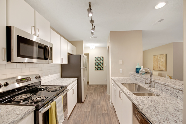 kitchen at Crosstown at Chapel Hill Apartments